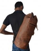 Vintage AMERIBAG Brown Rugged Leather Medium Sling Purse Ergo Bag Backpack