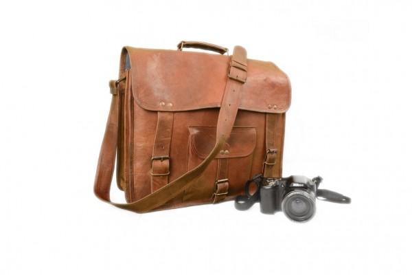 vintage goat leather laptop bag leather messenger bag office bag cross body bag