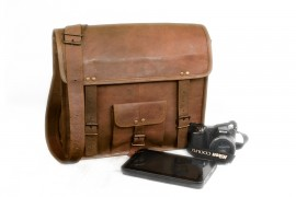 Gusti Genuine Leather Travel Shoulder Holdall Vintage Bag Unisex Brown