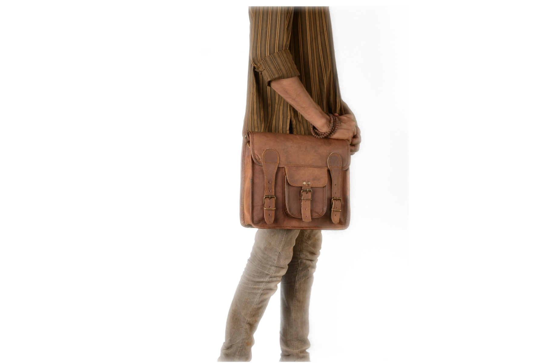 Leather 12″ Messenger Bag Made Of Rustic Leather, Men Women ...