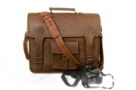 College shoulder bag shoulder bag leather bag school