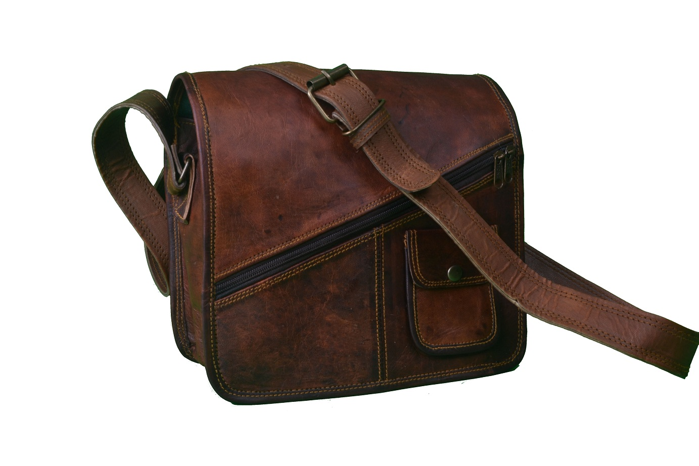 12″ Inch Leather Messenger Laptop Bag Satchel Briefcase Mac Book ...