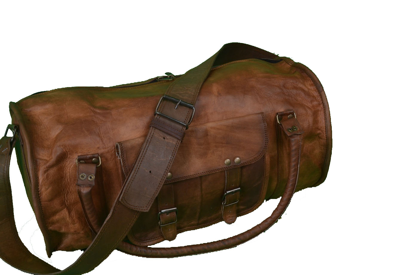 18″ Inch Leather Weekend Bag – Leather Duffle Bag – Overnight Bag ...