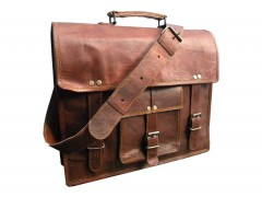 Leather Satchel Handmade Padded Goat Leather