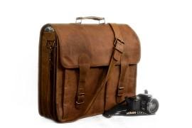 Mens Genuine Leather Shoulder Bag Messenger Sling Bag Business Handbag Tote Case