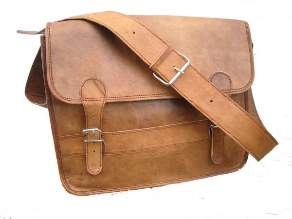 Retro Goat Leather Laptop Macbook Messenger Office Briefcase Satchel Bag